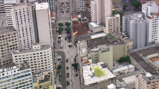 MS AERIAL Shot of City / Parana, Brazil