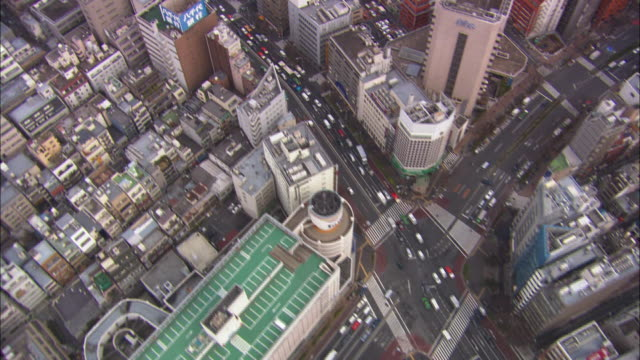 vidéos et rushes de ms pov aerial shot of city / tokyo, japan - tokyo