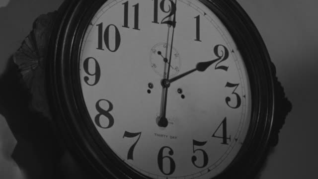 CU LA Shot of Clock on wall