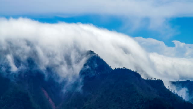 t/l shot of cloud waterfall in western sichuan/sichuan,china - mountain range stock videos & royalty-free footage