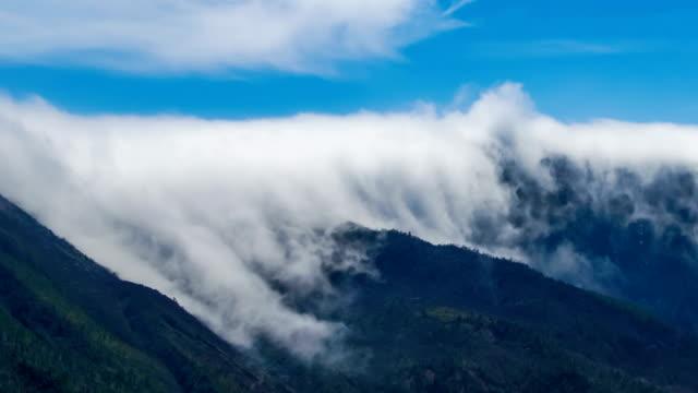 t/l shot of cloud waterfall in western sichuan/sichuan,china - 四川省点の映像素材/bロール