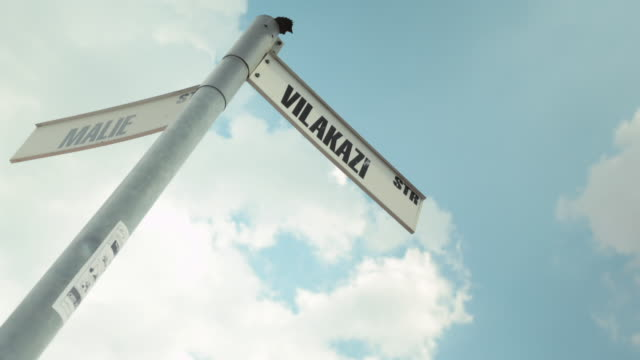 ms t/l shot of clouds moving over vilakazi street signboard in soweto / johannesburg, gauteng, south africa - soweto stock videos & royalty-free footage