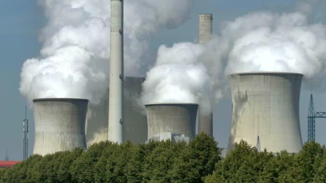 MS Shot of coal power plant of RWE near Neurath / North Rhine Westphalia, Germany