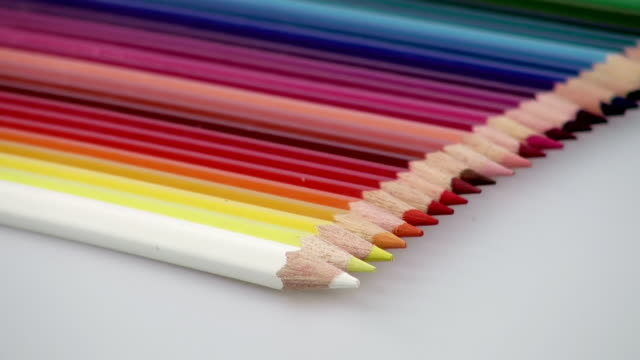 ecu shot of color wax crayons / saarburg, rhineland palatinate, germany - colored pencil stock videos and b-roll footage