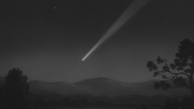 ws shot of comet in sky - comet stock videos & royalty-free footage