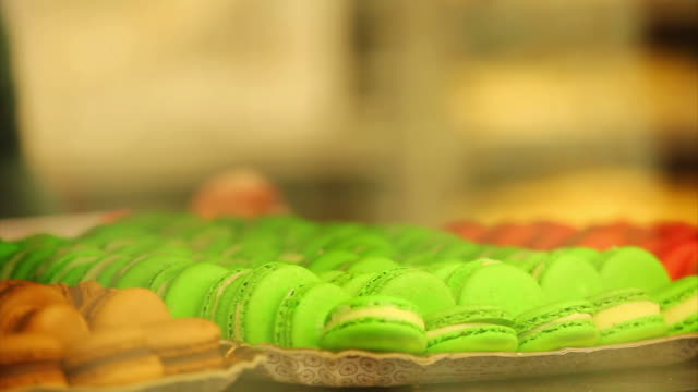 cu r/f shot of confectionery macaroon / belo horizonte, minas gerais, brazil - macaroon stock videos and b-roll footage