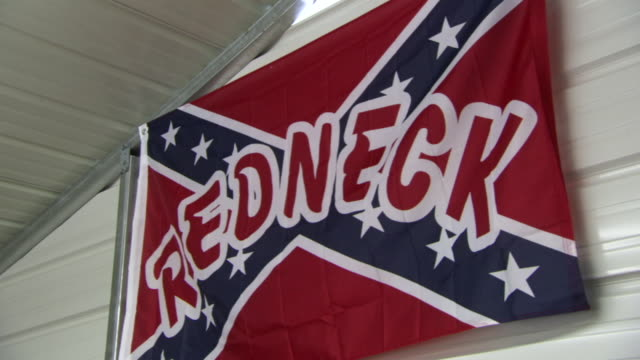 MS PAN TD Shot of confederate flag with word REDNECK and huge bra, panties with image of truck and words I DONT DRIVE NO UGLY TRUCK / Dublin, Georgia, United States
