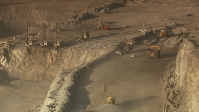 MS Shot of construction site on opencast mine / Namibia