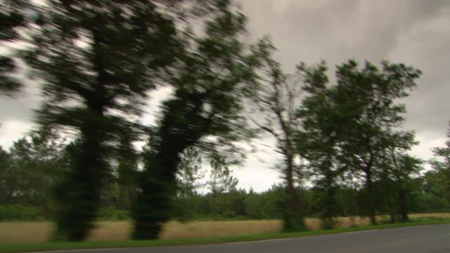 WS POV Shot of dark cloud / Biarritz, France