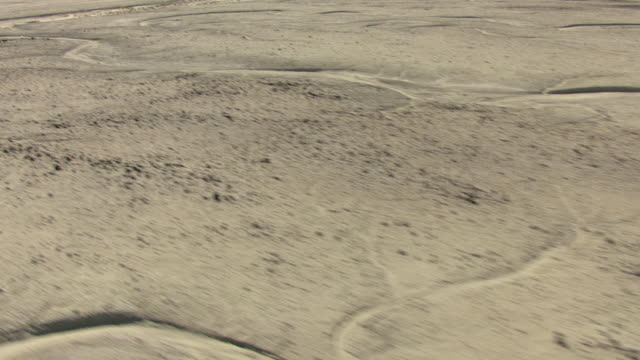 MS AERIAL TU Shot of desolate desert in Churchill County with no vegetation and strong sunlight / Nevada, United States