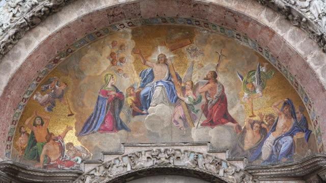 ms la shot of detail of basilica di san marco, piazza san marco / venice, veneto, italy - renaissance stock videos & royalty-free footage