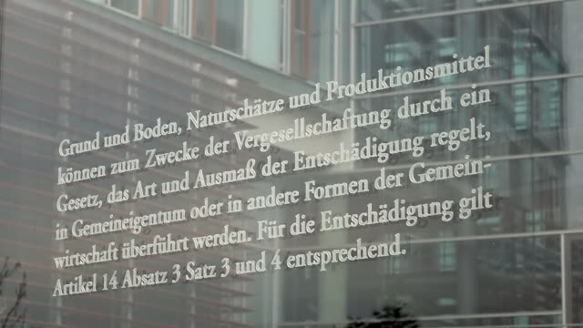 cu shot of detail of constitution of the state at jakob kaiser haus / berlin, germany - constitution stock videos and b-roll footage