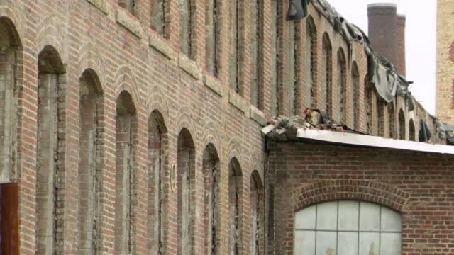 MS Shot of dilapidated building / Greensboro, North Carolina, United States