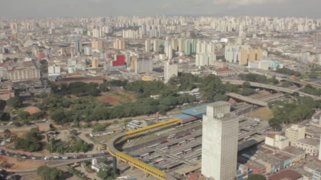 vídeos de stock, filmes e b-roll de ws shot of downtown sao paolo / sao paolo, brazil - distrito financeiro