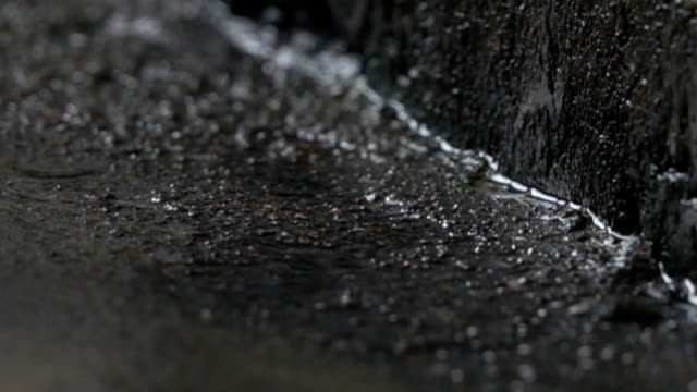 SLO MO Shot of droplets of water