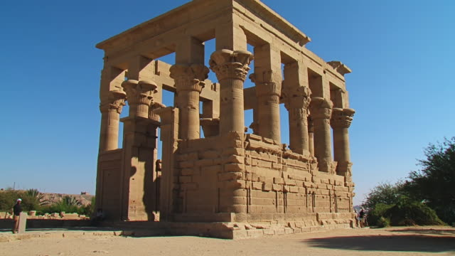 MS TU LA Shot of Edfu Temple / Edfu, Aswan, Egypt