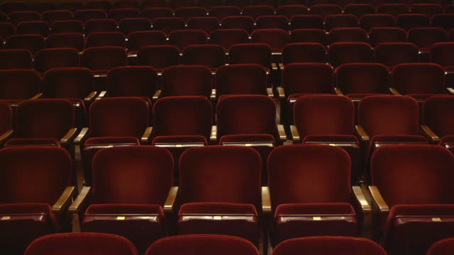 ms tu shot of empty seats in concert hall / ann arbor, michigan, united states - concert hall stock videos and b-roll footage