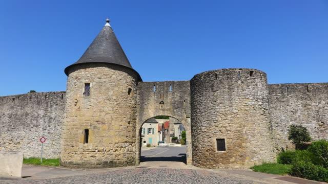 ms shot of entrance of citadelle  / rodemack, lorraine, france - lorraine stock-videos und b-roll-filmmaterial