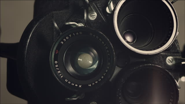 Shot of film Movie camera
