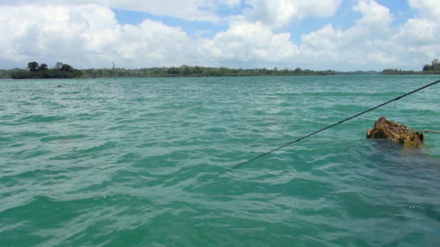 Shot of Fishing in Panama Canal with Short Rod