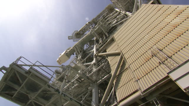 MS DS Shot of fixed service structure of Launch Pad 39A at Kennedy Space Center / Cape Canaveral, Florida, United States