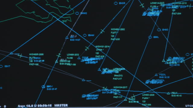 cu shot of flight control screen / amsterdam, netherlands - aerospace stock videos & royalty-free footage