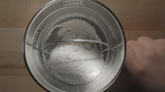 CU Shot of Flour being sifting / Los Angeles, California, United States
