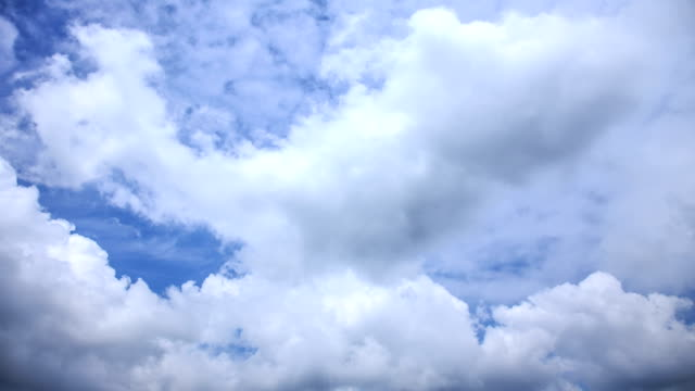 shot of flowing clouds - cumulus cloud stock videos & royalty-free footage
