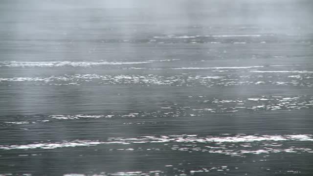 cu shot of fog over river saar / saarburg, rhineland palatinate, germany - saarburg stock-videos und b-roll-filmmaterial