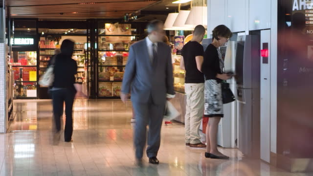 ms zi t/l shot of food court at mall / sydney, pyrmont new south wales, australia - flooring stock videos & royalty-free footage