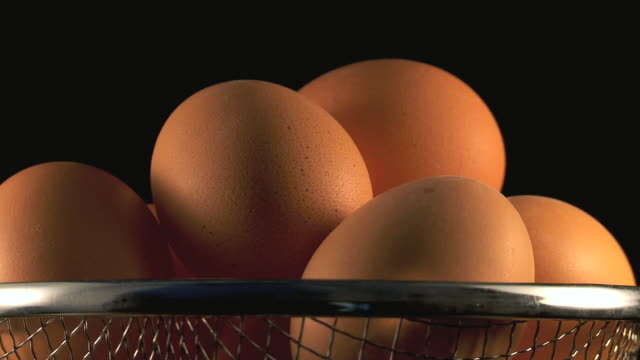 stockvideo's en b-roll-footage met cu shot of fresh eggs / malaga, spain - middelgrote groep dingen