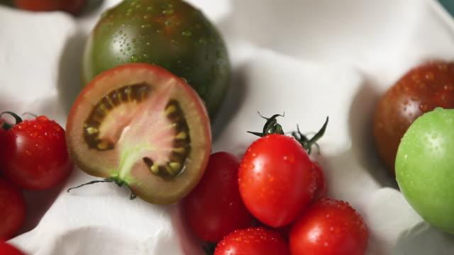 CU Shot of fresh Tomatoes / Seoul, South Korea