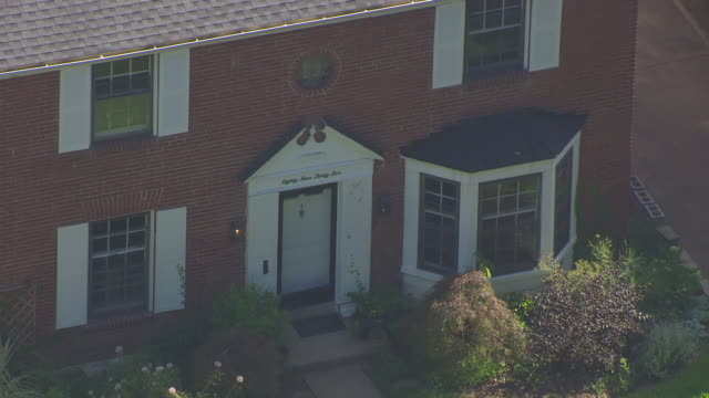 cu aerial shot of front door of home of roland doe / st louis, missouri, united states - exorcism stock videos & royalty-free footage