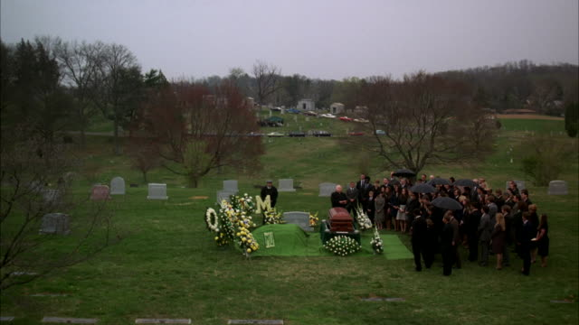 ws shot of funeral / unspecified  - mourner stock videos and b-roll footage