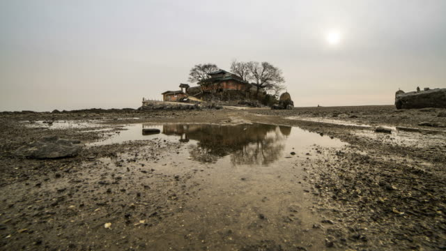 Shot of Ganworam Hermitage in Ganwoldo Islet (popular tourist destinations)