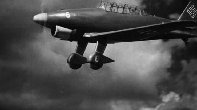 MS Shot of German airplane in flight (miniature)