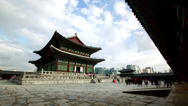 Shot of Geunjeongjeon (Main Throne Hall and Korean National Treasure 223) at Gyeongbokgung Palace