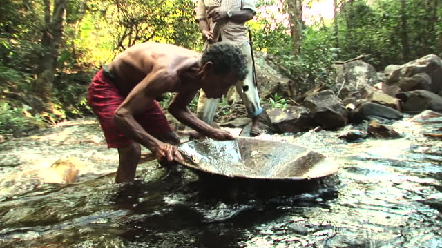 shot of gold mining in river / jacobina bahia brazil - flowing water stock videos & royalty-free footage