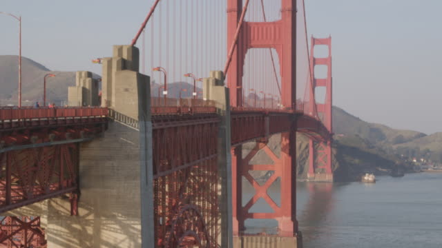 ms shot of golden gate bridge / san francisco, california, united states - 2k resolution stock videos and b-roll footage