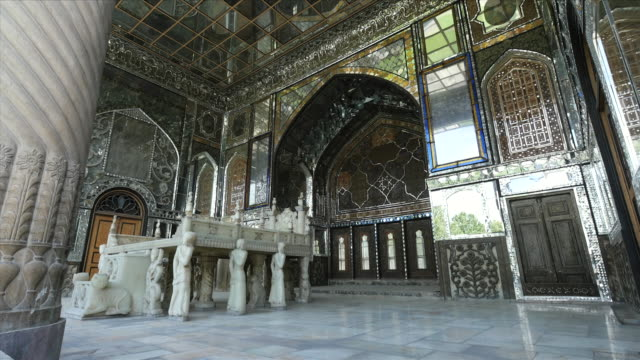 ms shot of golestan palace tehran, world heritage / tehran, iran  - palace stock-videos und b-roll-filmmaterial