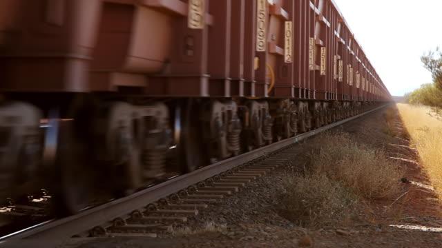 MS Shot of goods Endless Train / Perth, Australia