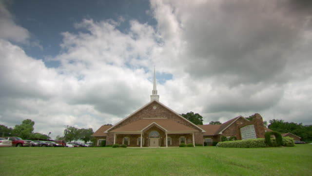 WS Shot of gospel church / Natchez, Louisiana, United States