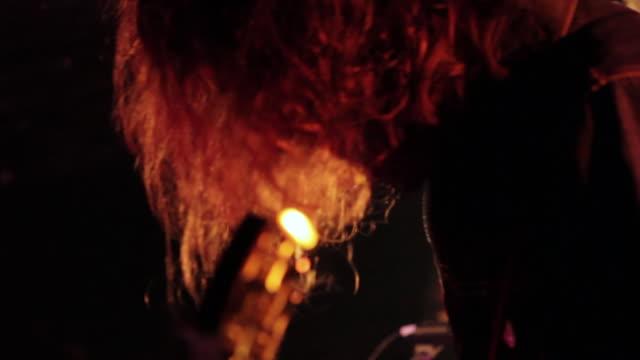 CU TU TD Shot of guitarist playing on stage / Shimokitazawa, Tokyo, Japan
