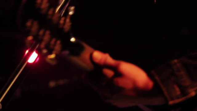 cu td shot of guitarist playing on stage / shimokitazawa, tokyo, japan - guitarist stock videos & royalty-free footage