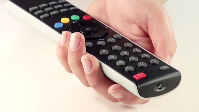 CU Shot of Hand with remote control / Saarburg, Rhineland Palatinate, Germany
