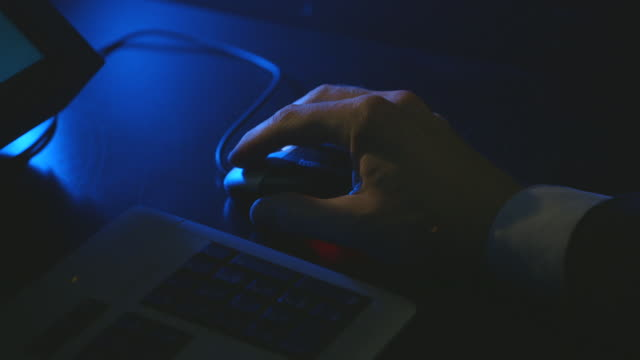 CU Shot of hand working on computer mouse / Amsterdam, Netherlands