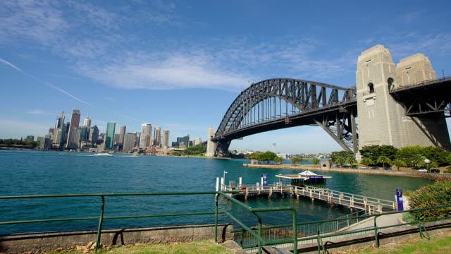 MS T/L POV Shot of harbor bridge / Sydney, new south wales, Australia