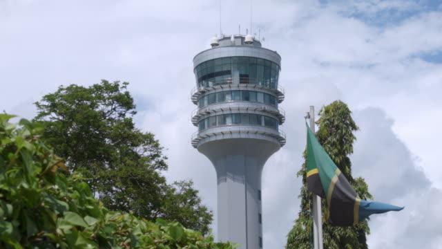 ms shot of harbour control tower / dar es salaam, tanzania - タンザニア点の映像素材/bロール
