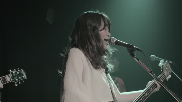ms tu shot of hard core band playing on stage / taipei, taiwan, china - taiwan stock videos and b-roll footage