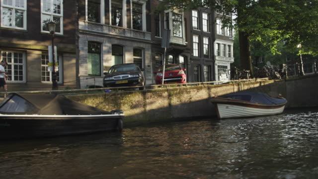 Shot of Herengracht Street in Amsterdam